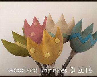 prim tulips pattern