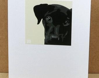 Black Labrador Greeting Card Art Print