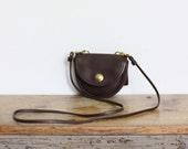 Vintage Coach Bag // Mini Messenger Crossbody Belt Bag in Brown Handbag 9826 EXCELLENT
