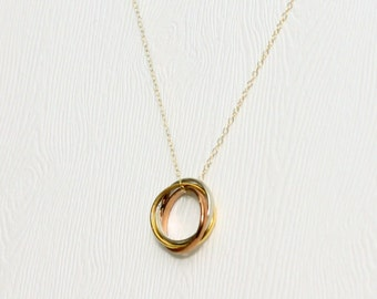 Infinity rings necklace