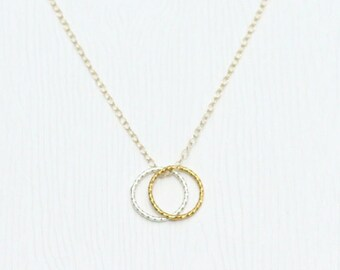 Friendship rings necklace