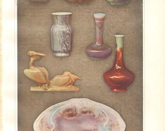 1904 Crystal Glaze, Glazed Ceramics Vintage Print