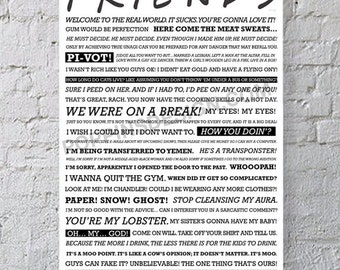 11X17 FRIENDS quote poster