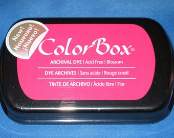 Pink Ink Pad Color Box Archival Dye Inkpad Hot Pink Permanent Ink Pad for Your Custom Stamp Pad Blossom Pink
