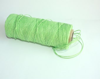 Light Green Paper Cord = 1 Spool = 110 Yards = 100 Meters - wrapping paper - for paper flowers - paper straws - christmas decorations