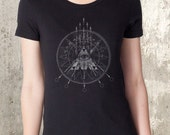 Compass and Arrows Women's T-Shirt - American Apparel -  Women's Small Through XXL Available