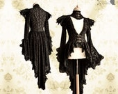 Victorian cardigan, steampunk robe, lace, Noctua, Somnia Romantica, size small - medium see item details for measurements