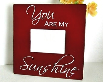 Frame for Grandparents, You Are My Sunshine Picture Frame, Sunshine Frame, Nursery Decor, Baby Shower Gift, Wood Picture Frame, Gift for Her