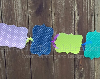Baby Monthly Photo Banner, Peacock Banner, 1st Birthday-Milestone Photo Banner -Made to Match -Photo Prop -Party Banner -Peacock Party