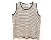 Unisex Striped Ringer Top / Oversized Cream VTG Boyfriend Shirt / 90s Grunge Striped Shirt / Loose Mens Womens Black and White Tank top