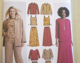 Simplicity 5463 Misses'/Women's Pants, Skirt, Tank Top, Jacket and Top Size BB (20W-28W)