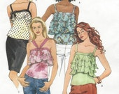 Womens Lined Summer Tops & Flower Camisole Style Tops McCalls Sewing Pattern M4778 Size 4 6 8 10 12 14 Bust 29 1/2 to 36 UnCut