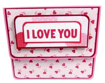 Valentine's Day Gift Card Holder, Gift Card Envelope, Gift Card Box, Money Holder- Hearts