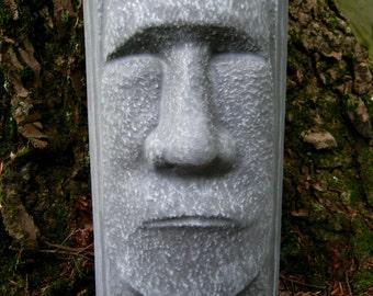 Easter Island Tiki Face, Concrete Garden Statue.