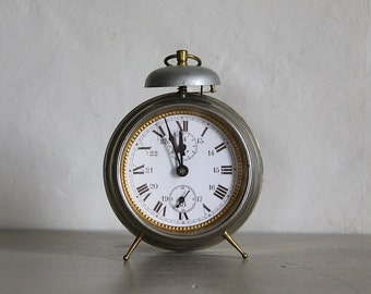 Antique Alarm Clock Industrial Loft Deco Bell Alarm