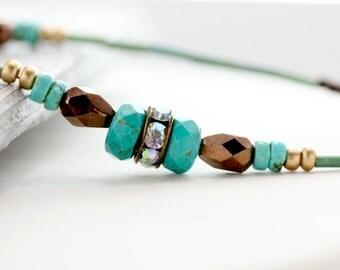Turquoise Eyeglass Lanyard, Turquoise Eyeglass Chain, Eyeglass Necklace, Glasses Chain, Turquoise Reading Glasses Chain, eye glass chain