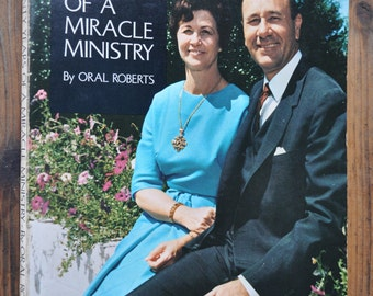 book, My Twenty Years of a Miracle Ministry by Oral Roberts,  a signed photo included 1967, christianity, evangelism and religious studies