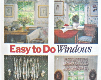Butterick 6032 Window Treatments Home Decorating Pattern, Vintage 1992