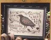 Spring Blessings : Blackbird Designs counted cross stitch patterns sampler garden folk art hand embroidery