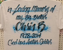 Custom Airbrushed T shirt | In loving Memory