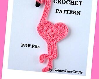 CROCHET PATTERN Flamingo Applique, PDF File, Free pattern offering