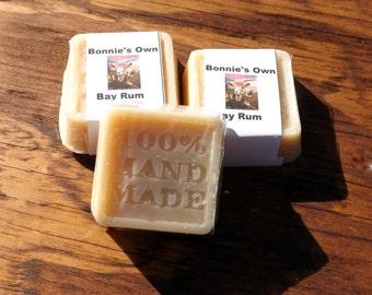 Bay Rum, 2 oz Soap Bar, Bath Soap, Goat Milk Soap, Allspice, Capers, Cloves, Nutmeg, Crushed Orange, Crushed Pine, Patchouli, Father's Day