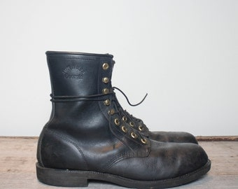 12 R | Men's GEORGIA Steel Toe Work Boots in Black