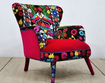 Suzani Armchair - birds in love - II