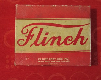 "1936 Card Game ""Flitch"".  Cards Unused.  Instructions Included. Parker Bros."