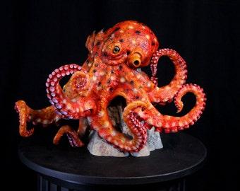 SALE on OOAK Octopus Kraken Sculpture Statue