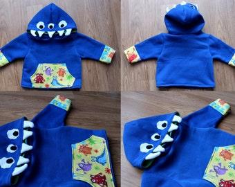 Monster Hoodie Kids Childrens Jacket Coat Sweater