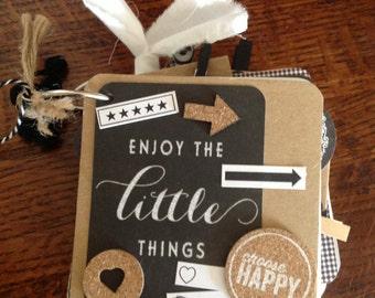 Instagram-size mini album journal ENJOY the little Things