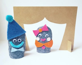 Puppet Kit | Crafts for Kids | DIY Puppet Stage | Finger Puppets | Travel Craft | Waldorf Toy