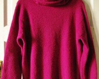 Eileen Fisher Wool Cowl Neck Sweater