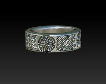 wedding ring  celtic ring   mens ring     celtic wedding ring     mens  wedding band   celtic jewelry R9S
