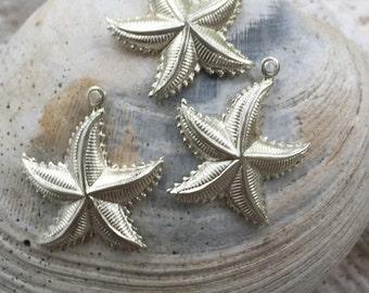 Silver Seafaring Starfish (2 pc)