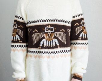 knit southwest sweater - L