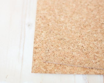 "Cork Sticker Paper - 6 Sheets - 5.5"" x 7"""