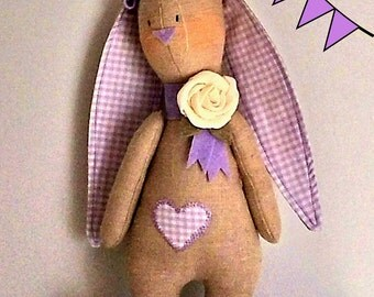 Pdf Sewing Pattern Rabbit, Bunny Sewing Pattern, mail download - Make your bunny