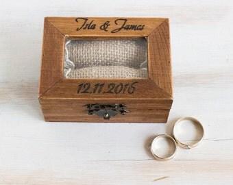 Rustic Ring Bearer Box Wedding Box Personalized Ring Bearer Box Engraved Wedding Ring Box Еngagement box Wedding Ring Holder Custom Ring Box