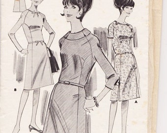 Woman's Weekly, Vintage 1940s, Sewing Pattern, Dress