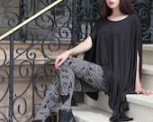 Filigree Art Nouveau Leggings by Carousel Ink - Black Tights - Printed Womens Legging