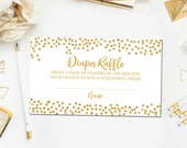 Gold Baby Shower Diaper Raffle Ticket Cards, Diaper Raffle Ticket Printable Instant Download, Diaper Game, Baby Diaper Raffle BB6