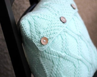 Knit pillow case pattern, knitting pattern, knitting tutorial, pillow cover, home decor, decor pillow DIY knitted tutorial