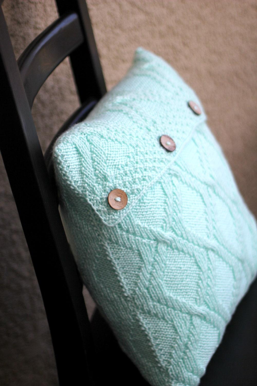 Knitting Pillow Case Pattern : Knit pillow case pattern knitting tutorial