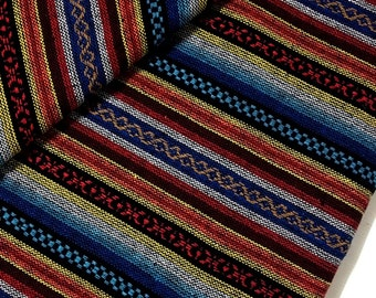 Thai Woven Cotton Fabric Tribal Fabric Native Fabric by the yard Ethnic fabric Aztec fabric Craft Supplies Woven Textile 1/2 yard (WF13)