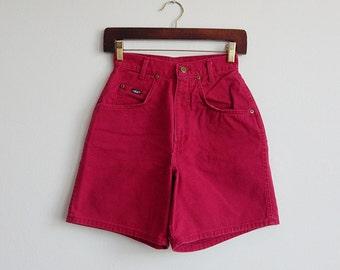 1980's Chic Hot Pink High Waist Shorts Size XS