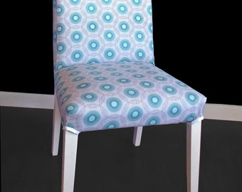 IKEA HENRIKSDAL Dining Chair Cover - Lightning Bug Blue