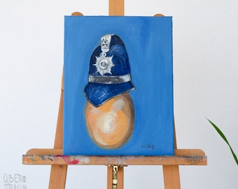 Conceptual Art Oil Painting - 'The Egg I' - contemporary art painting