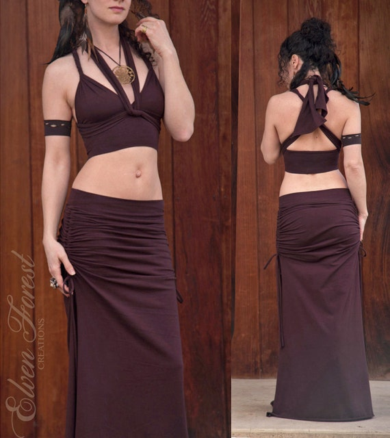 Wrap and Tie Crop Top ~ Gypsy Traveler ~ create a different top every day